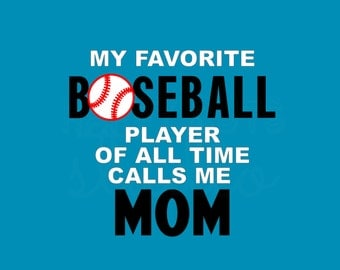 My Favorite Baseball / Soccer Player Calls Me Personalized Dad Mom Grandpa Grandma Fan Family Team Support Iron On Vinyl Decal 4 T Shirt 309