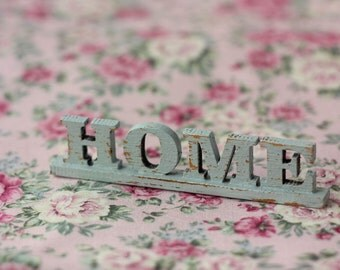 Miniature wood letters for doll