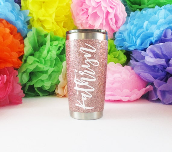 Rose Gold Custom Travel Mug