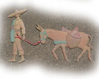 Vintage (Glow in the Dark) Mexican with Burro Wall Art