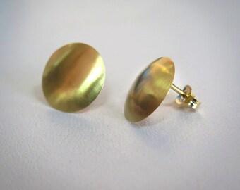 Gold Stud Earrings - Solid Gold Earrings - 14k Gold Earrings - Gold Studs - Round Stud Earrings - Solid Gold Stud Earrings - Gold Earrings