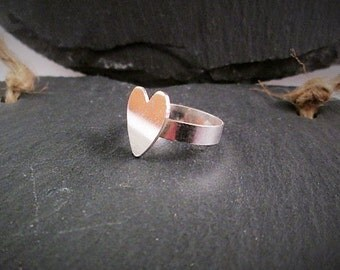 Simple heart ring. Sterling silver.