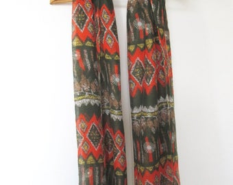 Tribal/bohemian patterned scarf