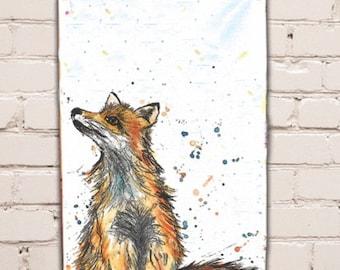 Fox Tea Towel
