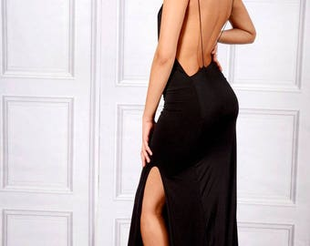 Emrata Twisted Spaghetti Straps Maxi Dress With A Side Split