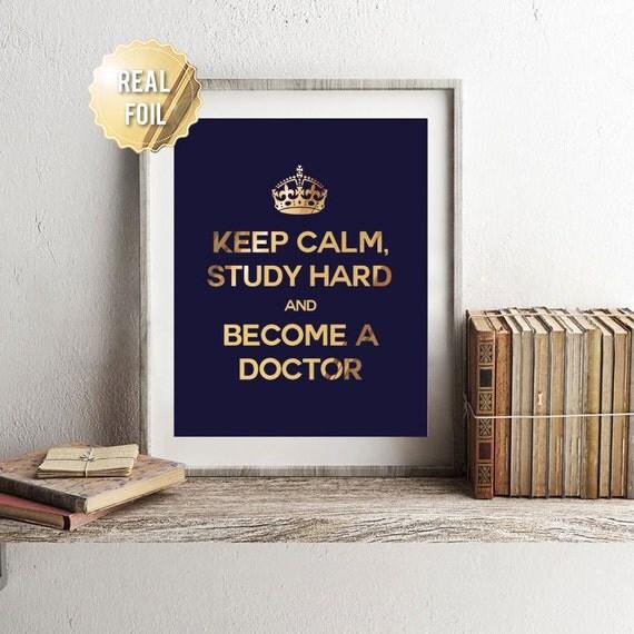 Medical Student Gift Medical School Gift Gold Foil Print