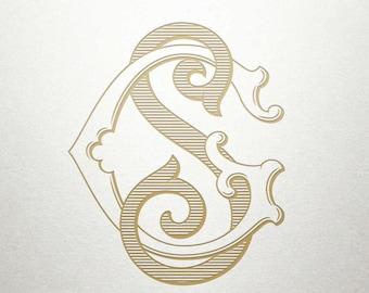 Interlocking Monogram Design - GS SG - Monogram Design - Vintage
