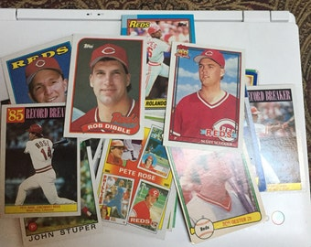 42 Cincinnati Reds Baseball Cards 1980's