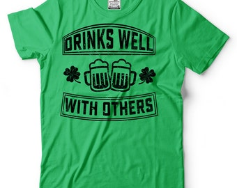 St Patrick's Day Funny T-shirt Drinks Well For Irish Party Saint Patricks Day Tees Shenanigans Tee Shirt Pub Party Gift Ireland