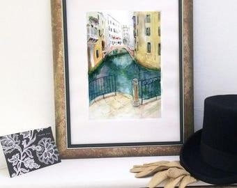 "Original watercolour painting ""Venice"""