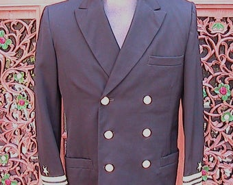 Size 39 US Navy Double Breasted Coat