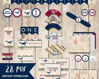 airplane party package,Time flies party package,airplane party decor,airplane party printable,packages,time flies birthday,boy birthday