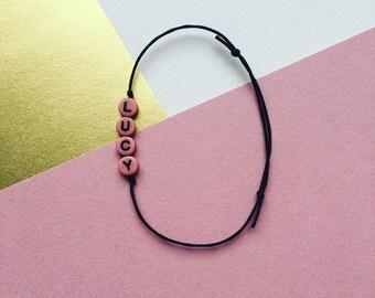 YOUR NAME Bracelet // Personalized Charm Bracelet