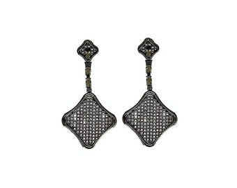 SALE ITEM - Rhodes Dangle - Statement Earrings - Edgy Earrings - Exquisite Earrings - Modern Earrings - Mother's day Gift