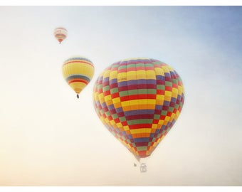 hot air balloon photography, bright colours, fine art photography, travel photography, Cappadocia, Turkey, romantic home decor, art print
