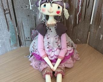 O.O.A.K. Art doll Moppiedoll Jessica de Geus Little heart