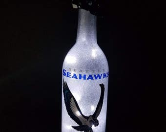 Seattle Seahawks football led bottle light,  Seattle Seahawks lighted bottle