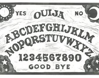Ouija Board - Linocut