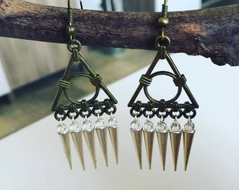 Earrings silver Spikes sorcerer