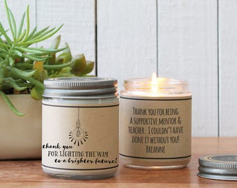 Thank you for Lighting the Path Candle Greeting - Professor Gift | End of Year Gift | Teacher Appreciation Gift | Teacher Gift