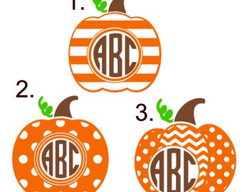 Thanksgiving Pumpkin Decals!