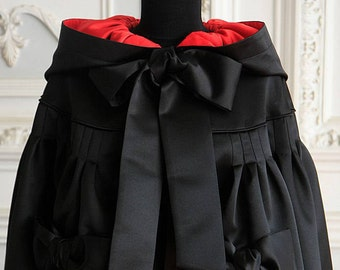 Black Cloak, Black cape, Long cape, Hooded cloak, Personalized cape