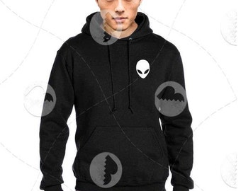 """Unisex - Premium Retail Fit """"Alien"""" 2016 Pullover Hoodie, Hooded Sweater (S,M, L, XL+) Fashion - Oversized +"""