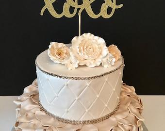XOXO Cake topper, Valentines Day Cake topper, Love Cake Topper, Anniversary Cake Topper, Bridal Shower Cake Topper