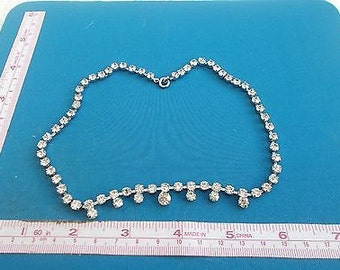 Stunning Vintage Art Deco Clear Diamanté and Paste Necklace