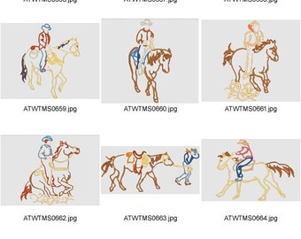 Western-Outlines. ( 10 Machine Embroidery Designs from ATW )