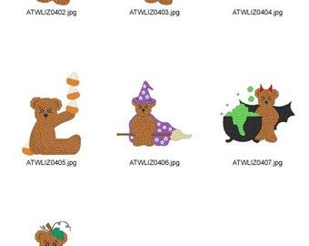Brownie-Halloween ( 7 Machine Embroidery Designs from ATW ) XYZ17B