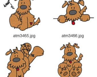 Scruffy-The-Dog  ( 7 Machine Embroidery Designs from ATW ) XYZ17C