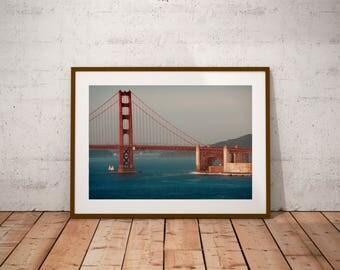 "San Francisco Photography, California, Golden Gate Bridge, Fine Art Photography, 20 cm x 30 cm, 8"" x 12"""