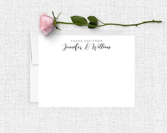 Personalized Stationary, Bridesmaid Gift, Personalized Note Cards, Thank You Note Cards, Custom Stationery, Stationery Set, Calligraphy