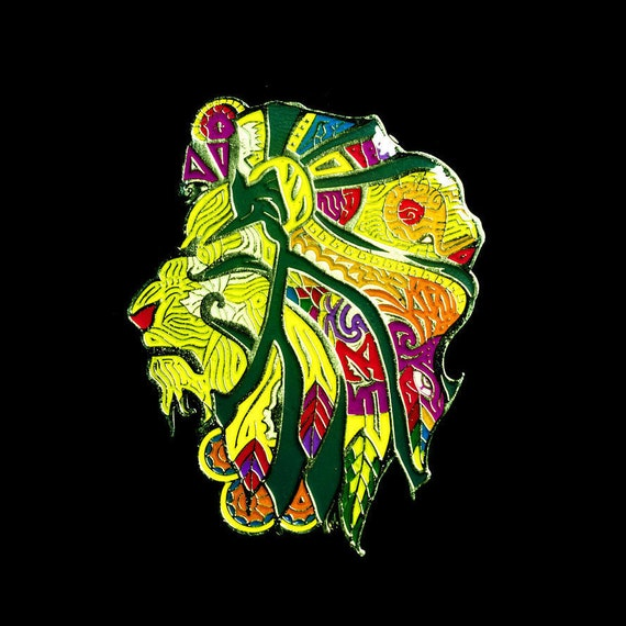 Elegant Lion Lapel Pin (full color - LION01)