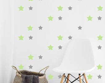 Star Wall Decal Etsy - Nursery wall decals stars