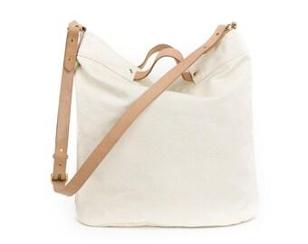 Canvas Tote bag zipper / Canvas big tote / white canvas tote / Everyday canvas bag / womens everyday bag / Shoulder canvas bag