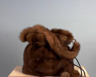 Brown Leather Bag Leather Handbag Patchwork Bag Brown Genuine Leather Bag Handmade Bag Women's Handbag Purse Gift for Her Small Purse