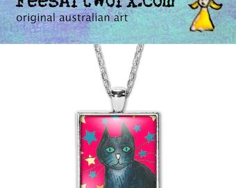Cat Lover Gift, Cat Mum Gift, Cat Mom Gift, Black Cat Pendant, Cat Necklace, Black Cat Jewelry, Cat Jewellery, Cat Pendant Necklace