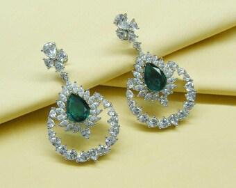 Wedding Earrings Chandelier - Bridal Jewelry - Bridal Earrings - DH8joolry