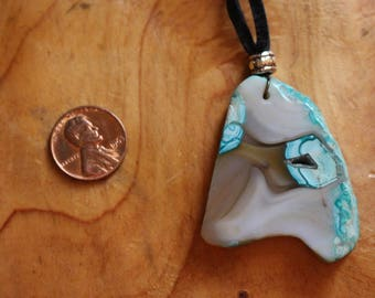 Natural Turquoise Stone Suede Leather Necklace