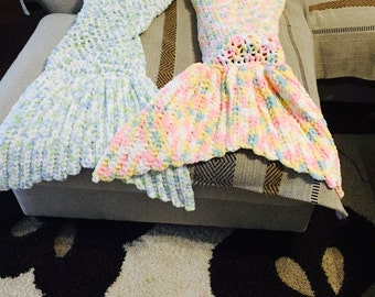 Crochet cozy mermaid tail for a toddler