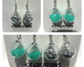 Glass Globe Jewelry (Earrings and Necklaces)