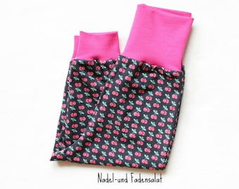 Baby Girl Pants, Baby Harem Pants, Girls Harem Pants with cherries, Baby Girl Clothes