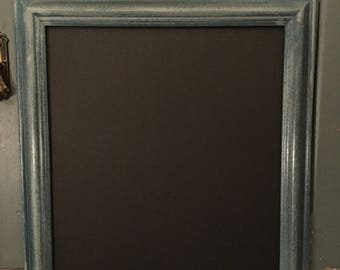 Vintage Medium Picture Frame Upcycled Shabby Blackboard Wedding Chalkboard Noticeboard Kitchen Noticeboard