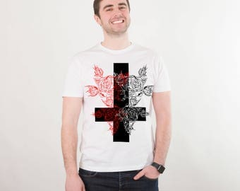 Cross T Shirt Cross Tshirt St Peter Inverted Cross Tee Shirt Hipster Graphic Cute Graphic Tee Tumblr Clothing Graphic Tees for Women PA1174