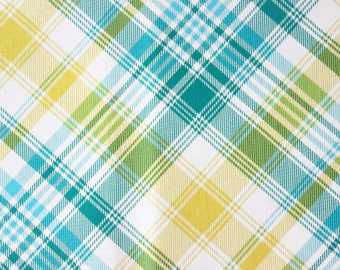 Notting Hill by Joel Dewberry for Free Spirit - Blue Green Tartan - Sold by the yard