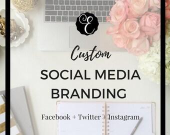Custom Facebook Cover, Twitter Banner and Instagram Avatar   Social Media Branding