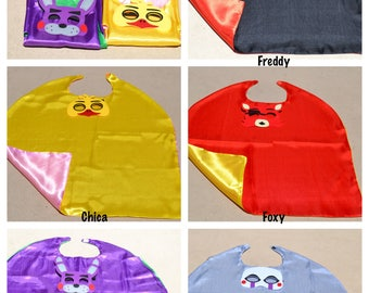 Five Nights at Freddy's Cape and Mask - Great for Child Kids Boy Toddler Birthday Party Outfit. Personalized Name Available