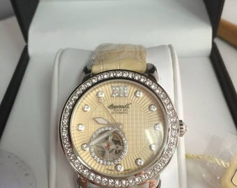 Freeport Lady's  automatic  leather Watch by  Ingersol Limited edition. Ingersoll since 1892.